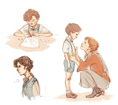 Young Sherlock sketches by Anaeolist