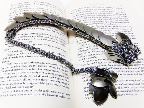 Bright Silver Chainmaille Dragon by NebulaDraconian