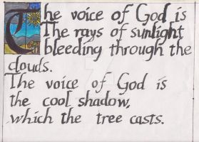 The voice of God Poem by MethostheAnubis