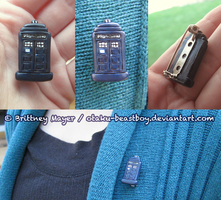 Doctor Who Tardis Pin by BrittyDee