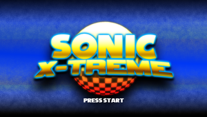 Sonic X-Treme: Title Screen (Version 1) by Mauritaly