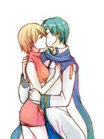 kissing kaimei for request by wafers001