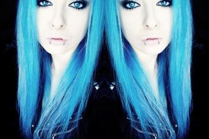 scene girl bibi barbaric blue hair by BibiBarbaric
