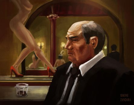 Man in an adult bar by szander