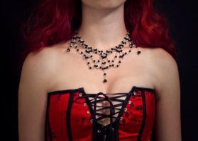 necklace - gothic beads by Sizhiven