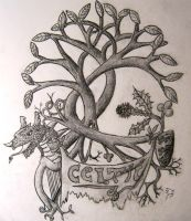 Celtic pride - tattoo design by Pieceofrope