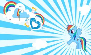 Rainbow Dash Wall by Evilarticfox