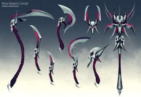 Dark Elves Weapons Concept by slipled