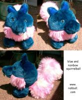 Blue and rainbow squirrelball by Rahball