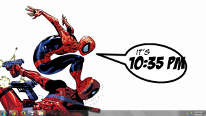 Comic Clock 1.00 Rainmeter by quadtrofang