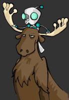 Gir and Moose by jiggly