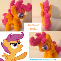 2nd Scootaloo plushie (art trade :WerewolfNobody:) by BlueAcrylicFox