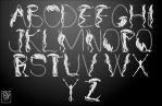 Xenomorph Font - UPPER CASE by Predaguy
