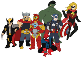 Marvel Project - The Avengers by Gaiash