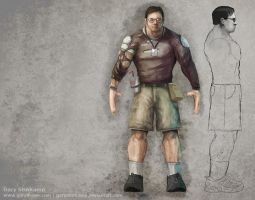 Tim Sweeney Model Sheet WIP 2 by GaryStorkamp