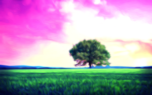 Psychedelic Tree Wallpaper by Stabasta