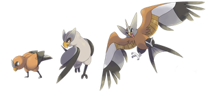 Fakemon: Custrel, Fesprey, Aukite by Kydeka