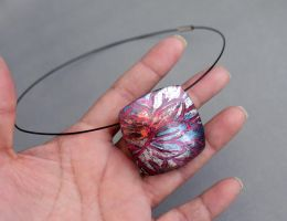 Contemporary Polymer Clay Pendant by earthexpressions