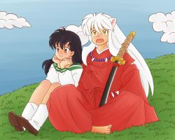 Kagome and Inuyasha by Anigh