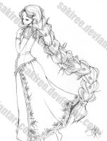 Braid Rapunzel: Sketch by SakiRee