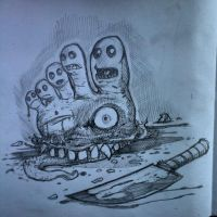 Zombie Foot concept sketch by Parabolastar