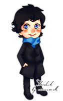 Who wants a chibi Sherlock? by cioccoMELLO