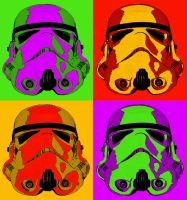Star Wars Stormtrooper Pop Art by DogHollywood