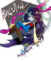 adventure time girl gang - marceline zombie hunter by tribblenuu