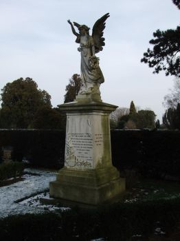 Grave Marker 10: Angel Statue Left by fuguestock