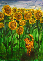 Watching The Sunflowers by Murley