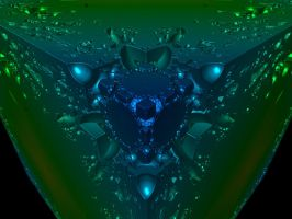 Raytraced Mandelbox Fractal 2 by mcsoftware