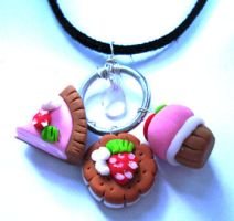 Sweet Food Necklace by geurge