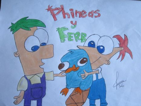Little Phineas and Ferb by LorePurpleWings