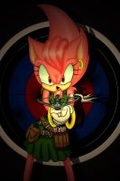 amy rose with crossbow by Libellchen174