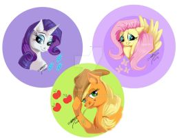 My Little Pony Button Designs A by shottsy85