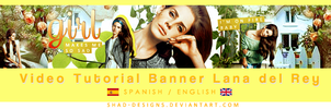 VideoTutorial Banner Lana del Rey by shad-designs