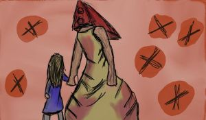 Pyramid head  And Alesa by Call-Them-Back