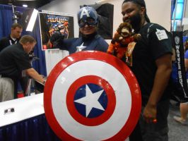 Captain America and Avarice Monkey by pa68