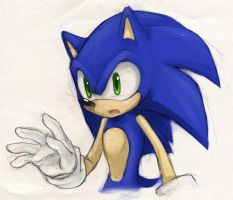 step by step Sonic -colored- by Nomnomroko