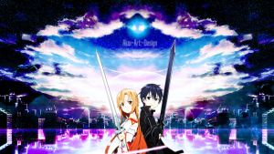 Sword Art Online Asuna x Kirito by Akw-Art-Design