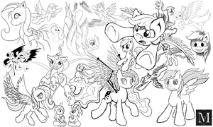Sketch Compilation 1 by Multiponi