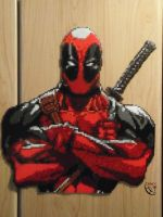 Deadpool Project Final Perler Beads by Cimenord