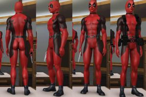deadpool outfit sims3 by tyrblue