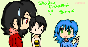 Chelsea, Human Sonic and Shadow by shadow54379