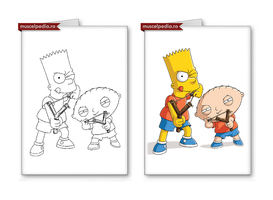 Bart and Stewie by cnaJD