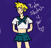 Sailor Cloud proto-sketch for Yari by GaialeiStrife