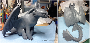 :.Toothless - Wip.: by XPantherArtX