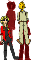 Trisha and Aaron Elric: SideA [Color +UPDATED] by PrettySoldierPetite