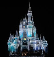 Castle Lights Cropped by WDWParksGal-Stock