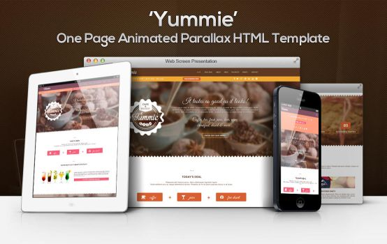 'Yummie' One Page Animated Parallax HTML Template by gothic-crimson